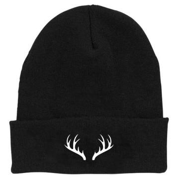 deer beanie black